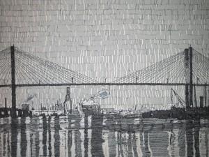 "Savannah River 12""x16"" Original (Pen on Board) Series of 20"