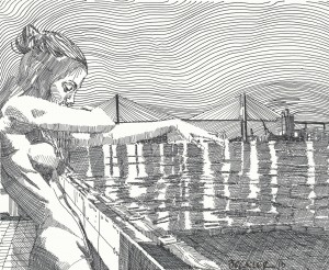 Woman and Bridge