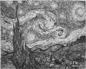 "Starry Night 16x20"" Credit: Vincent Van Gogh"