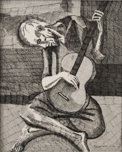 The Old Guitarist 11x14 Credit: Pablo Picasso